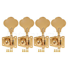 4 String Bass Guitar Tuners Tuning Pegs Keys Machine Heads Open Back 4L Gold