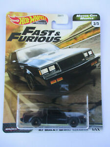 HOT WHEELS FAST & FURIOUS 2020 *MOTOR CITY MUSCLE* '87 Buick Grand National NEW!