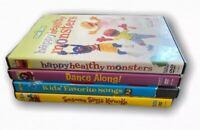 Sesame Street Elmo Children Family Dance Sing Karaoke DVD Lot Of 4 Movies