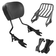 Sissybar + portaequipajes w1 para Harley Road Glide Custom 10-13 negro
