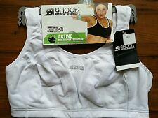 Shock Absorber Sports Bra Running Gym Fitness Level 4 Max Support White BRA1