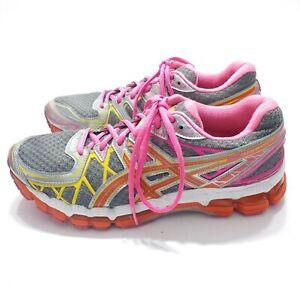 Womens ASICS GEL Kayano 20th Anniversary Edition Pink Orange Running Shoes US 10