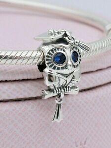 Authentic Pandora Wise Owl Graduation Big Eyes Charm Silver S925 ALE 798907C01