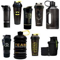 Black Protein Shaker Cups and 2 Litre Water Bottle Jugs   Huge Range Top Brands