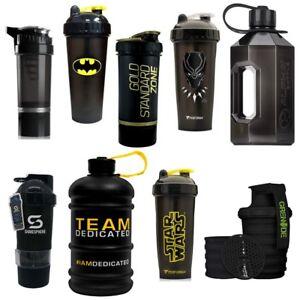 Black Protein Shaker Cups and 2 Litre Water Bottle Jugs | Huge Range Top Brands