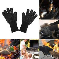 932℉ Hot Mitts Extreme BBQ Heat Resistant Silicone Gloves Kitchen Oven Cooking