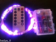 30 LED PINK Battery String Light+Remote Control+8 Modes+Use IN/Outside+Timer