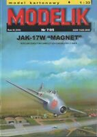 "ORIGINAL PAPER-CARD MODEL KIT - Jak-17W ""Magnet"""