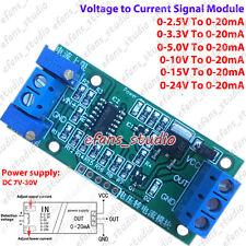 Voltage to Current 0-3.3V 5V 15V 24V To 0-20mA Transmit signal Linear Conversion