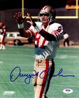 Dwight Clark autographed signed 8x10 photo NFL San Francisco 49ers PSA COA