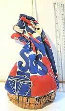 Vintage Float Bag SOS Cork Nautical Boat Boating W/ Seashell RED WHITE BLUE 4th