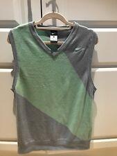 Men`s Nike Light Grey/Mint Green Wool Blend Sleevles Vest Gilet Jumper Size L