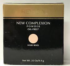 Revlon New Complexion Powder Oil Free .35 oz / 9.9 g Ivory Beige rare, Nib