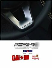 2pcs 3D Aluminum Interior Steering Wheel Speaker Decal Emblem Badge for AMG