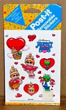 Vintage Muppet Babies Post-It Removable Stickers Baby Piggy Baby Kermit 1990