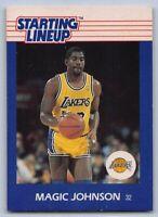 1988  MAGIC JOHNSON Kenner Starting Lineup (SLU) Basketball Card - L.A. LAKERS