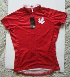 PRIMAL WEAR Canada Red Maple Leaf Cycling Jersey Women's Size Medium  NWT