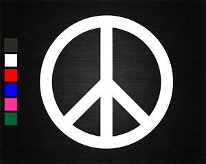PEACE SYMBOL SIGN VINYL DECAL STICKER BEDROOM/CAR/VAN/WALL/DOOR/LAPTOP/TABLET