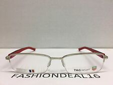 c5a8c9a0f44 New Authentic Tag Heuer Trends Black Red Optical Frame TH8209 002 Eyeglasses