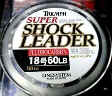 Fluorocarbon Leader LINESYSTEM super shock leader 60 lb 50meter spool japan
