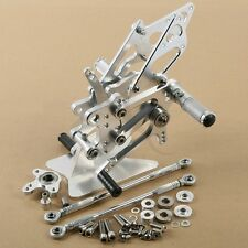 New Silver CNC Rear Foot Rest Pegs Set For Honda CBR 600RR 2003-2006 2004 2005