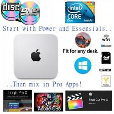 Apple Mac Mini w/CD DVD 2.4Ghz SSD Adobe CS6 Master Suite, Logic ProX, Windows10