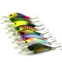 8PCS Mini Minnow Minorui Fishing Lure Bait Tackle Hook Bait Crankbait Kit 6.3cm