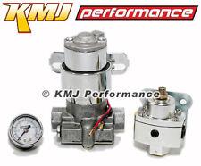High Flow Electric Fuel Pump 140GPH Universal w/ Regulator & Pressure Gauge Kit