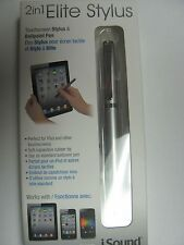 iSound 2-in-1 Elite Stylus w/ ballpoint pen for any phone or tablets NEW DG-280
