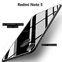 COVER per Xiaomi Redmi Note 5 ORIGINALE Crystal Glass con RETRO VETRO TEMPERATO