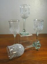 Henrik Fraulund Denmark Art Glass Wine Stemware Glasses. 3D