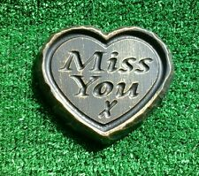 Miss you GRAVE SIDE TRIBUTE GARDEN MEMORIAL HANDMADE NATURAL STONE HEART  remove