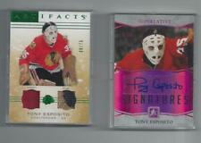 Tony Esposito Autograph And Patch Card Lot Plus Two Other Cards