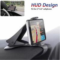 Universal Clip Car Holder Dashboard HUD GPS Mount Cell Phone Clip Non-slip