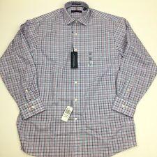 NEW Tommy Hilfiger Plaid Long Sleeve Button Front Dress Shirt Men's 15 32/33