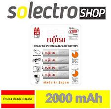 4x Recargable Fujitsu R6 / AA 2000 mAh Ni-MH Baterías Batería en Blister PP26