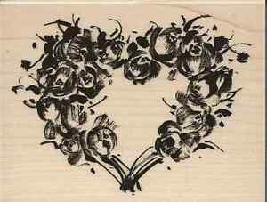 """""""Rose Heart"""" Rubber Stamp by Penny Black"""