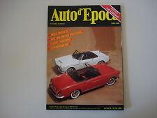 AUTO D'EPOCA 7-8/1992 FIAT 1200/1500/1600 PINIFARINA/MILLE MIGLIA