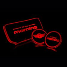 LED Red Cup Holder Console Plate Set For KIA All New Morning Picanto 2012~2015