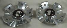 2 Crave Wheels Chrome Custom Wheel Center Cap Caps Set 2 # N17-1-UP / LG1009-63
