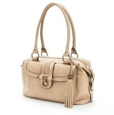 "CHAPS Women's Desert Caravan Tassel Satchel Bag Purse ""PALOMINO"" New Tags"
