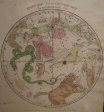 19th CENTURY OLD WORLD ANTIQUE 1835 NORTH CIRCUMPOLAR COLORED ENGRAVING MAP