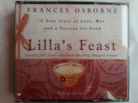FRANCES OSBORNE.LILLA'S FEAST.READ BY EVE BEST.3 CD,3 HRS.MINOR USE,JAPAN CHINA