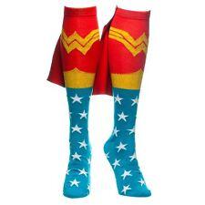 Official Wonder Woman kniehoch mit Kapuze Socken - DC Comics ausgefallen Retro