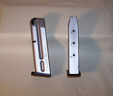 2 - Factory Beretta 92FS Magazine, 9mm, Stainless Steel Look,10RD, Factory New
