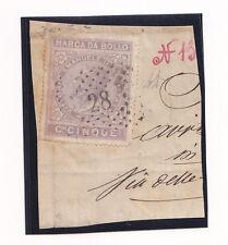 H922-REGNO D'ITALIA MARCA DA BOLLO 1863-C. 5 LILLA
