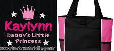PERSONALIZED Daddy Princess Tote Bag diaper baby beach book pink black girls New