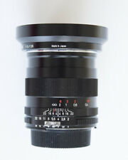 Zeiss ZF 28mm f/2 manual focus lens for Nikon, with hood / caps