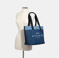 ❤️NWT Coach Denim Tote 91131 Horse & Carriage canvas satchel shoulder bag