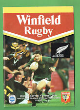 #Mm. Springboks V Allblacks Rugby Union Program 7th August 1999
